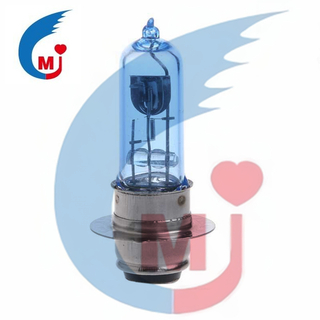 Motorcycle Headlight Bulb H6 P15D-25-1 DC 12V 35W Blue