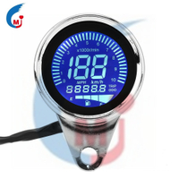 Universal Motorcycle Digital LED Backlit LCD Odometer Speedometer Tachometer